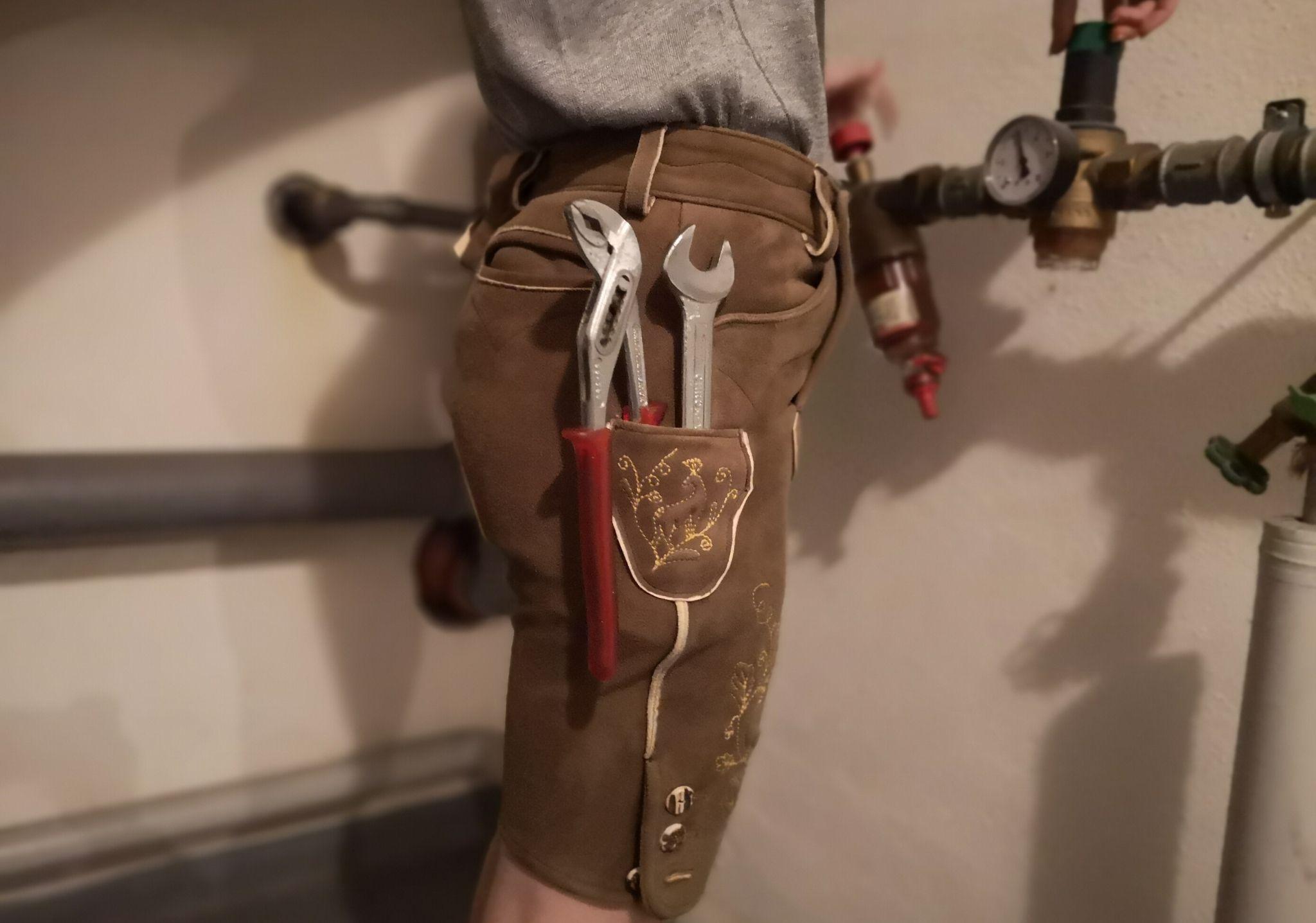 Lederhosen für Handwerker Hirschlederhose made in Bavaria