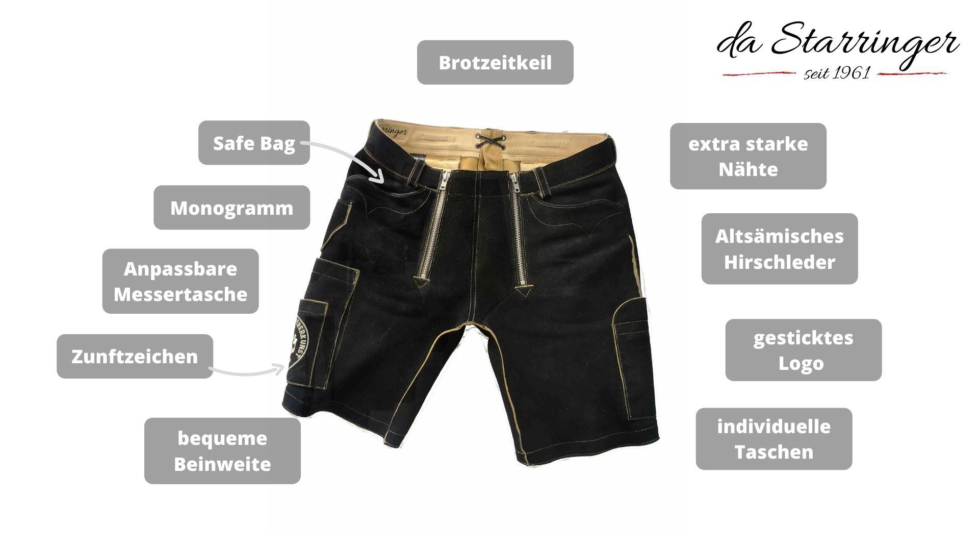 Handwerkerledrehose für Zimmerer Hosen für zimmerer